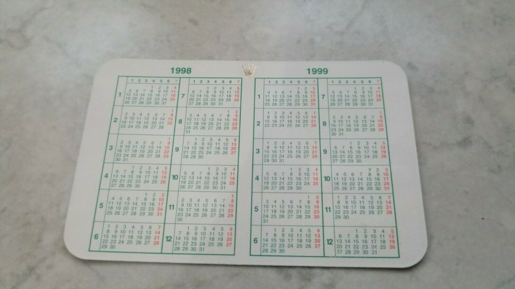 calendario rolex
